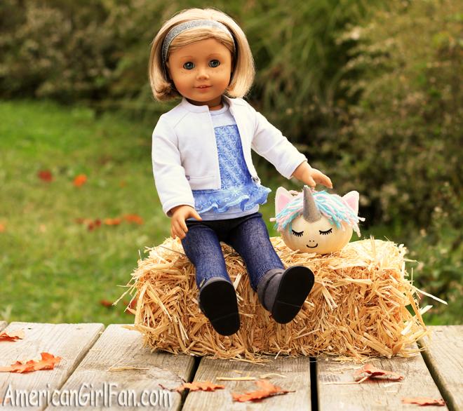 American Girl Doll Craft Unicorn Pumpkin