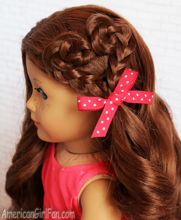 American Girl Doll Hairstyle Heart Braid