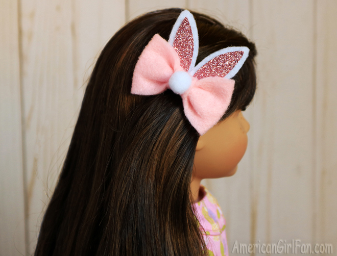American Girl Doll Easter Bunny Ears Hair Bows