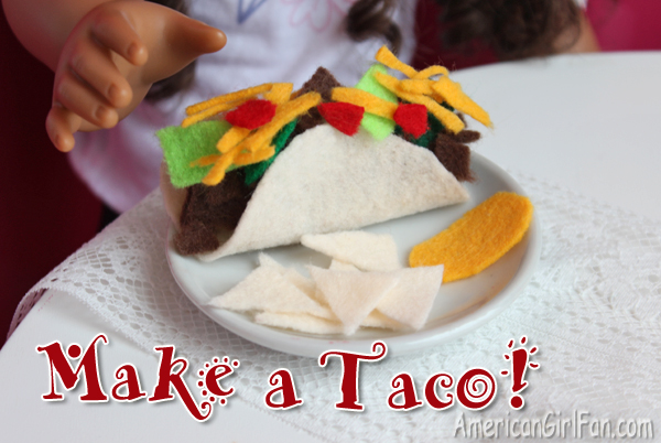 Doll Food Craft How To Make A Taco Americangirlfan