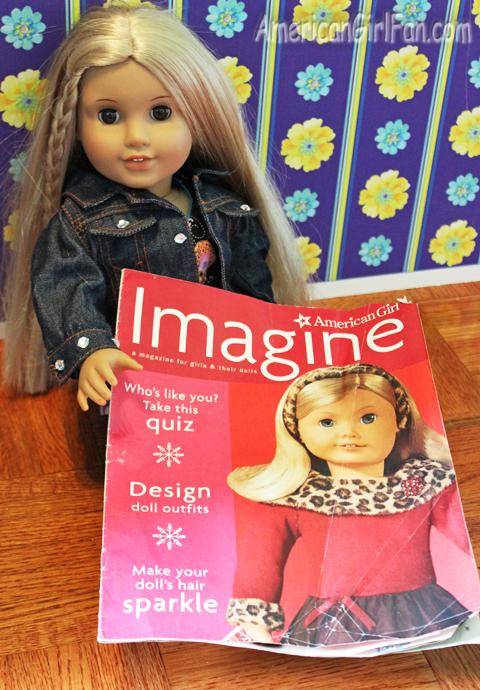 Julie with magazine