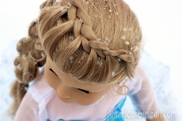 Cool Doll Hairstyle Frozen Inspired Elsa Braid Americangirlfan Short Hairstyles For Black Women Fulllsitofus