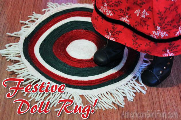 Festive doll rug american girl doll craft