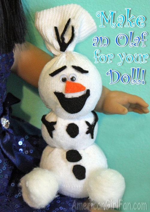 Make an Olaf for your American Girl Doll