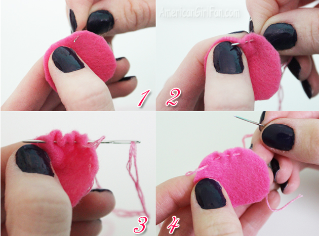 Four step sewing