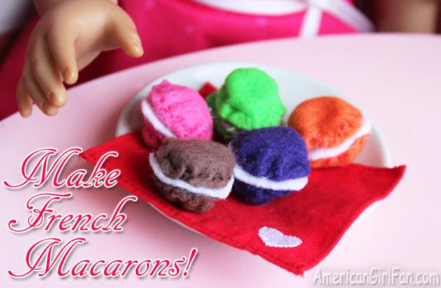 Make American Girl Doll Macarons