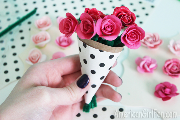 Doll craft how to make graces flower bouquet with free pattern flowers 2 mightylinksfo