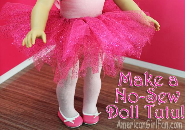 Make A No Sew American Girl Doll Tutu