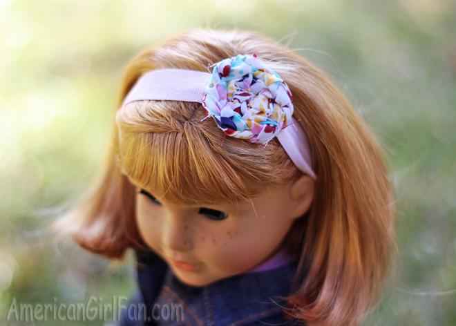 Nellie wearing headband