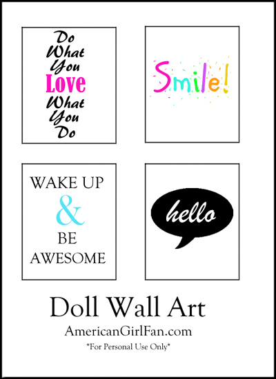 Doll Craft Decorate Your Doll S Room With Wall Art Free