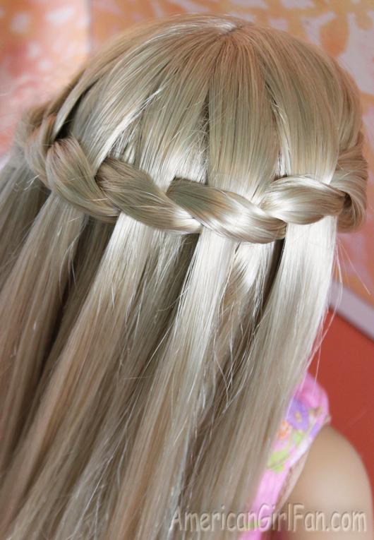 Waterfall Twist Braid Hairstyle American Girl Doll
