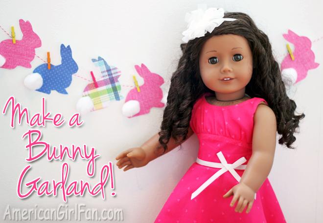 American Girl Doll Easter Bunny Garland
