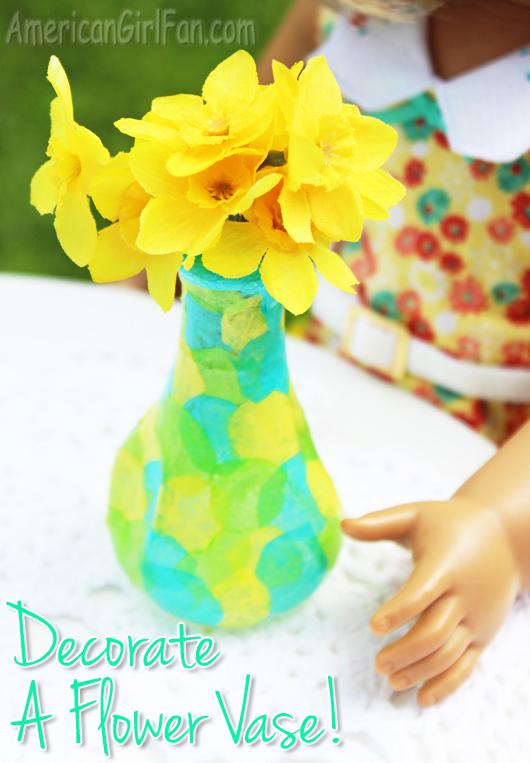 American Girl Doll Flower Vase Craft