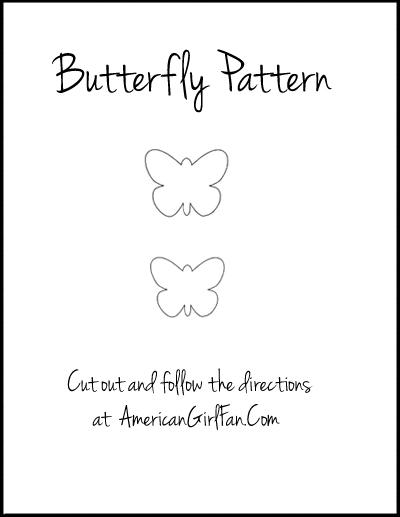 American Girl Fan Butterfly Pattern