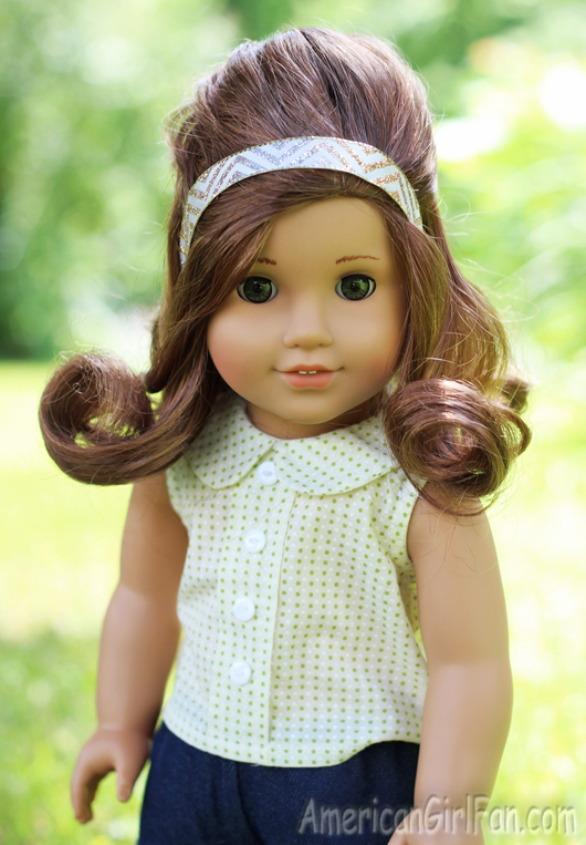 American Girl Doll Disney Hairstyles : Doll hairstyle vintage inspired half up style