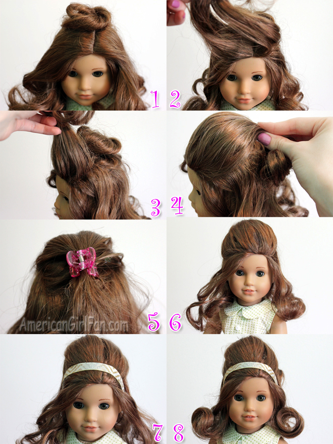 Doll Hairstyle Vintage Inspired Half Up Style Americangirlfan