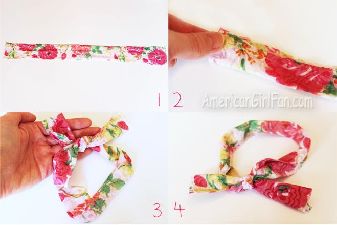 Steps To Make Doll Head Scarf