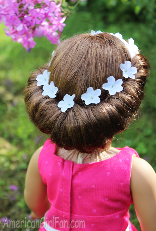 Doll Hairstyle Headband Tuck Bun Americangirlfan