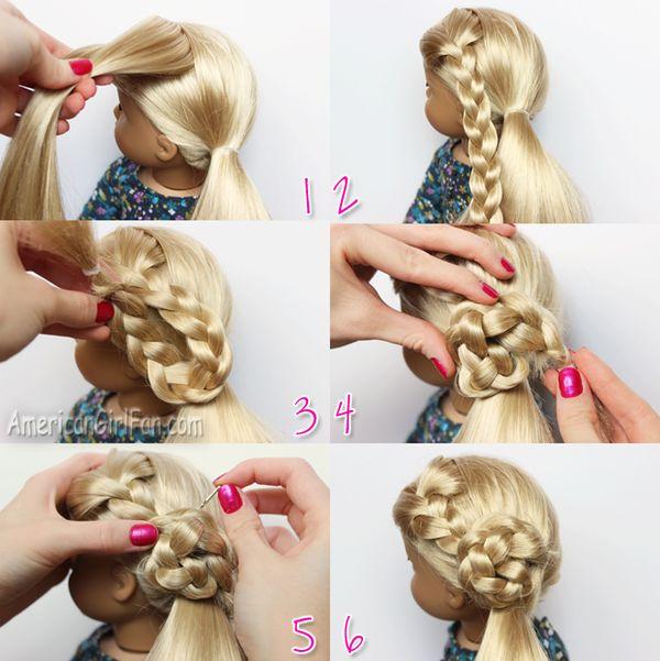 Doll Hairstyle Flower Braid Side Ponytail Americangirlfan