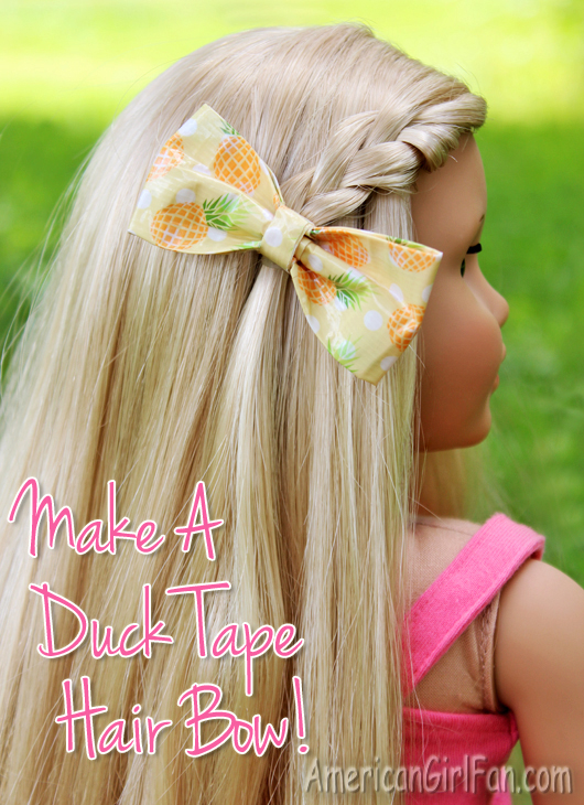 How To Make A Duck Tape Hairbow For American Girl Dolls