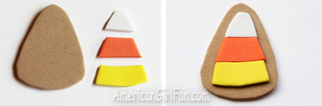 How To Make Candy Corn Cookies For Dolls (via AmericanGirlFan.com click through for tutorial)