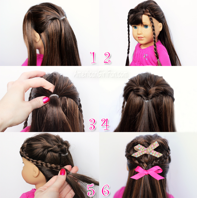 Doll Hairstyle Flip Twist With Mini Braids AmericanGirlFan - Doll hairstyles for grace