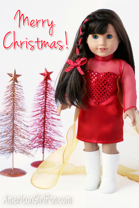 Grace American Girl Doll Christmas Hairstyle