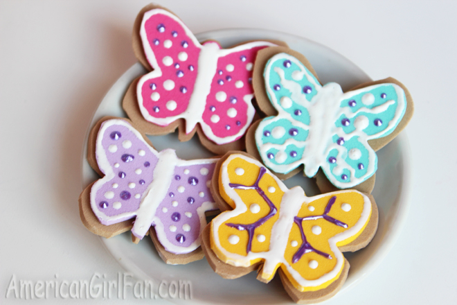 American Girl Doll Butterfly Cookies