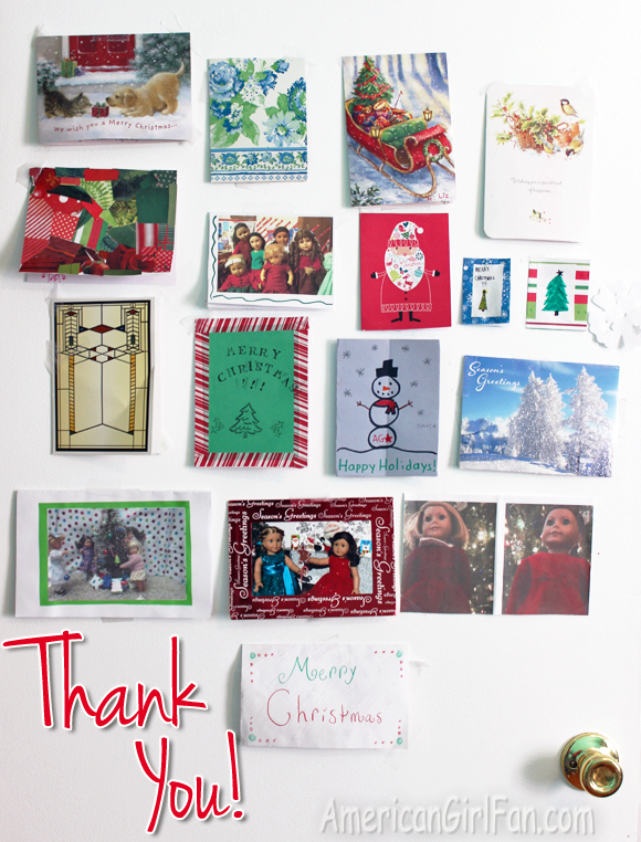 christmas card exchange thank you from me 2015 americangirlfan