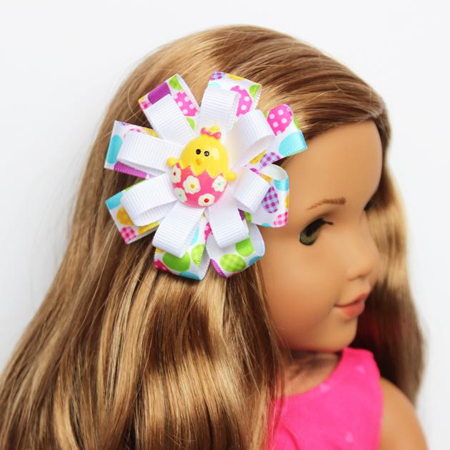 American Girl Doll Easter Hair Bow