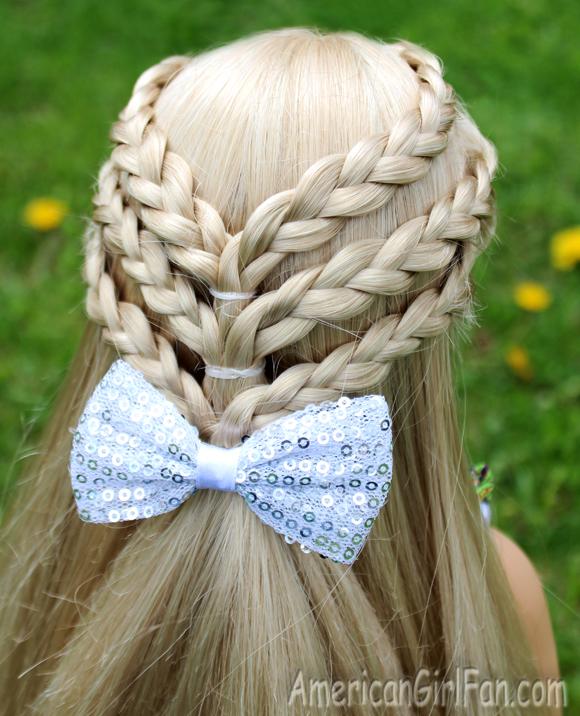 Doll Hairstyle: Triple Braided Half-Up Hairstyle! (AmericanGirlFan)