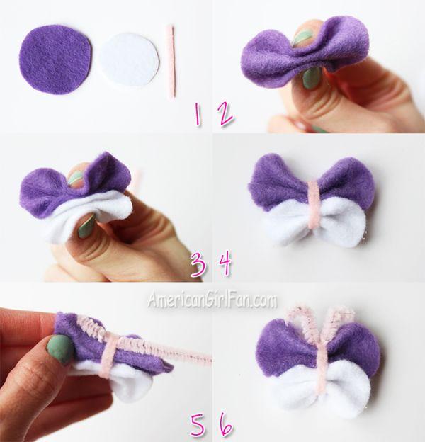 how to make hair for felt dolls