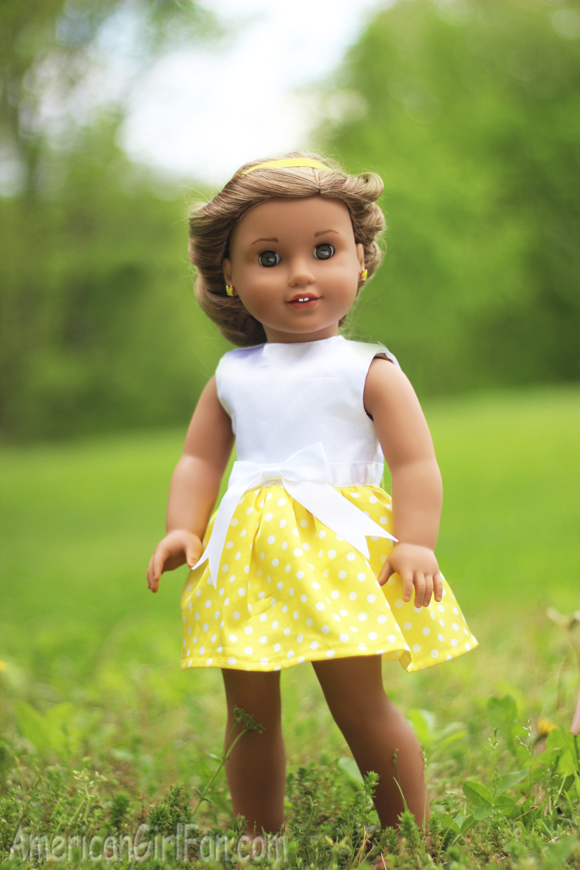 American Girl Doll Wrapped Headband Updo Hairstyle