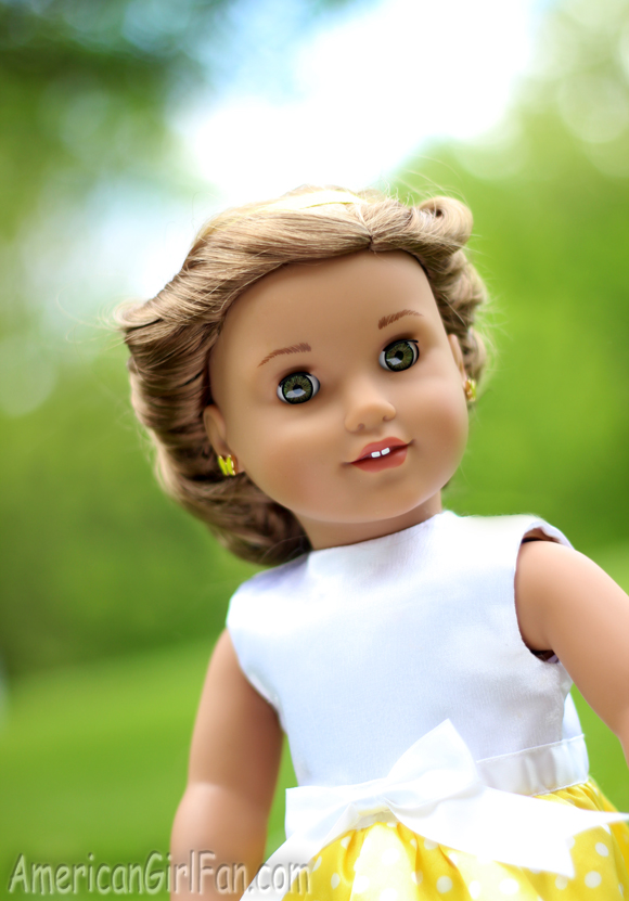 American Girl Doll Wrapped Headband Updo