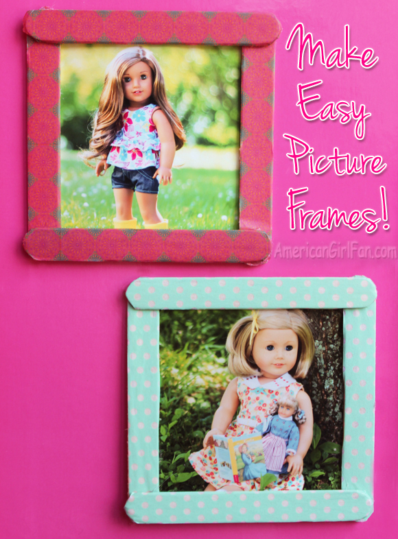 Doll craft how to make easy picture frames americangirlfan for Easy american girl doll crafts