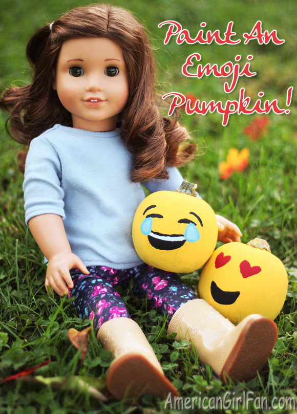 American Girl Doll Emoji Pumpkins