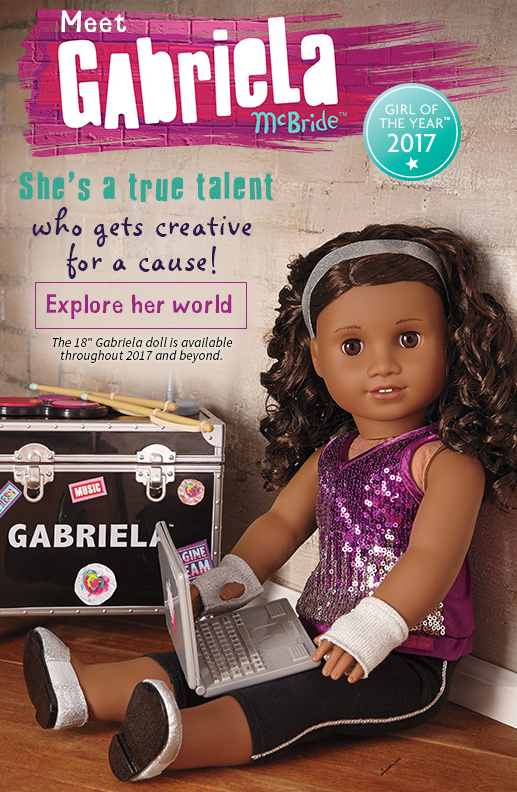 Girl of the Year 2017 American Girl Doll Gabriela McBride