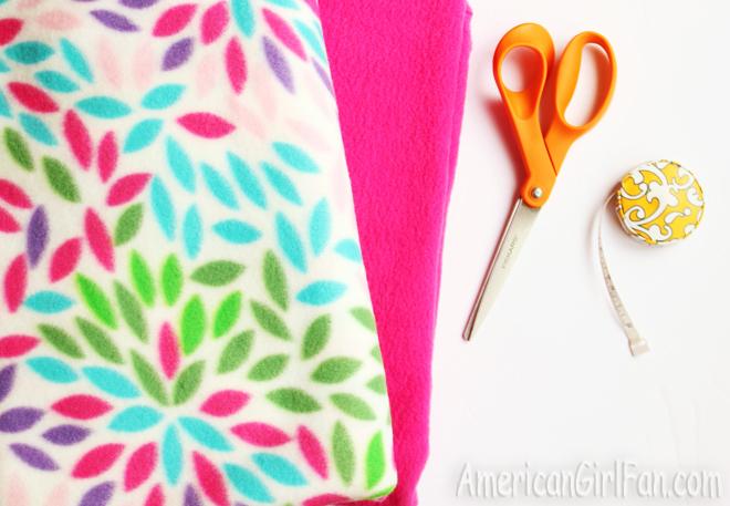 American Girl Doll Craft No Sew Sleeping Bag