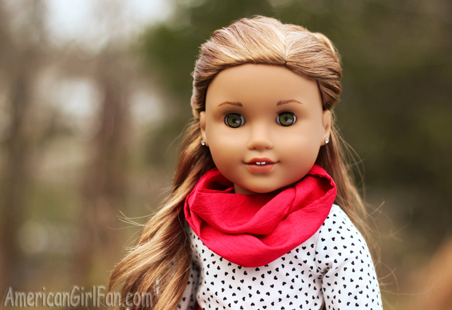 American Girl Doll Hairstyle Valentine's Day Heart Bun