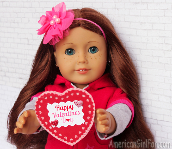 American Girl Doll Saige Valentine's Day