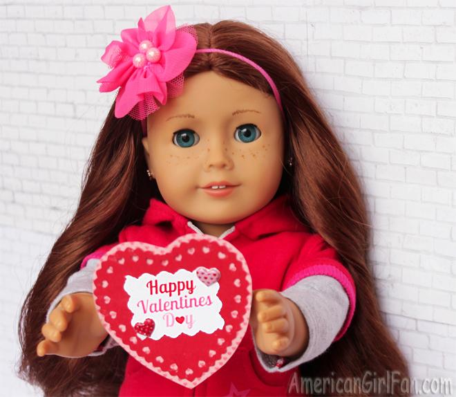 American Girl Doll Saige Valentine's Day