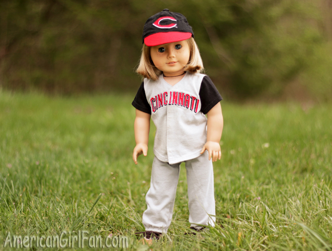 American Girl Doll Kit Cincinnati Reds Outfit
