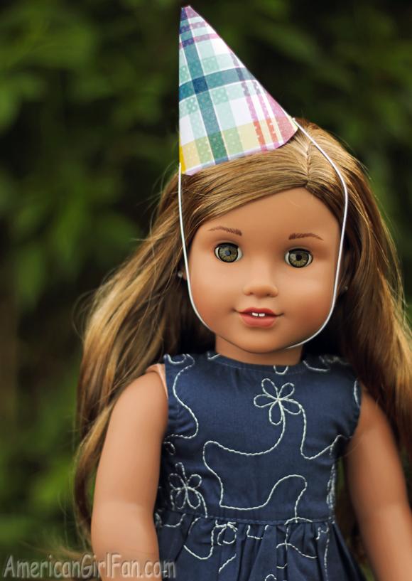 American Girl Doll Birthday Party Hat Printable