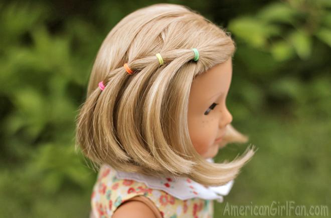 American Girl Doll Hairstyle Elastic Waterfall