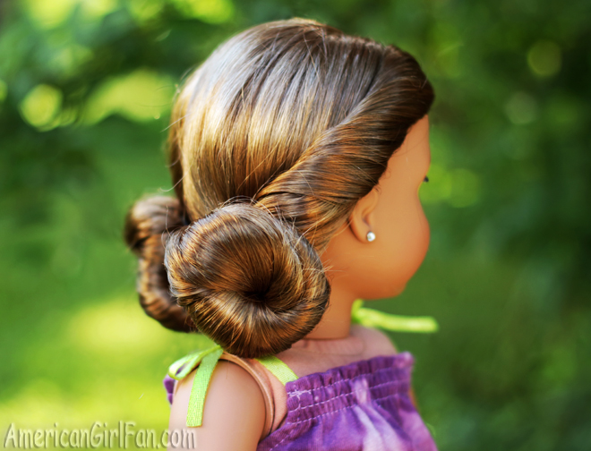 American Girl Doll Hairstyle Low Mini Buns