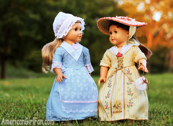 American Girl Doll Felicity and Elizabeth