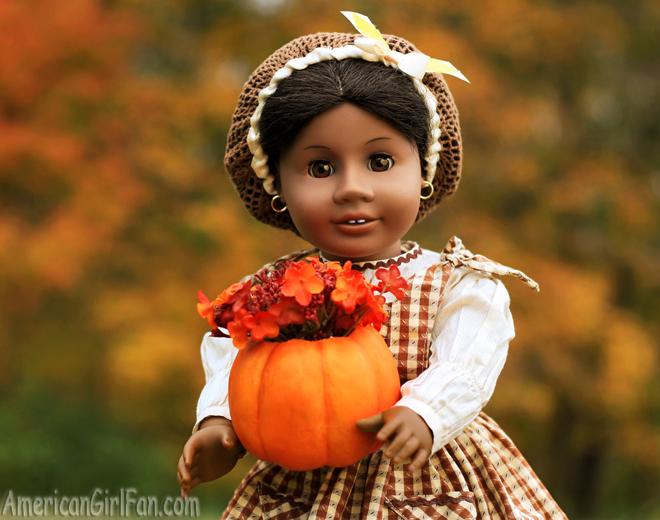 American Girl Doll Craft Pumpkin Vase