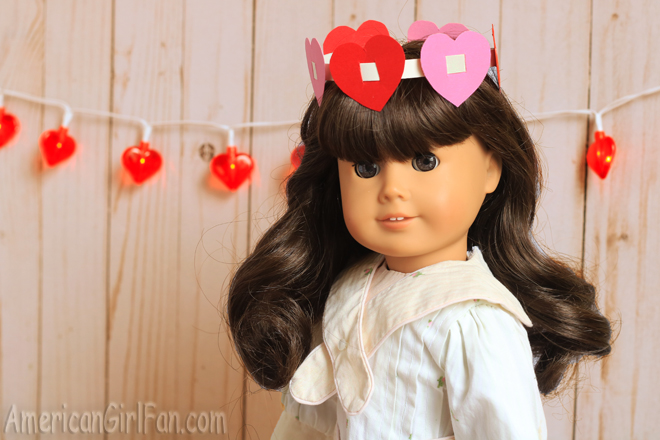 American Girl Doll Craft Valentine Crowns