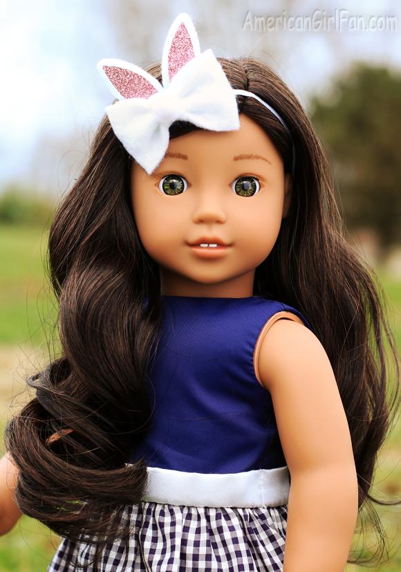 American Girl Doll Easter Bunny Ears Hair Bows