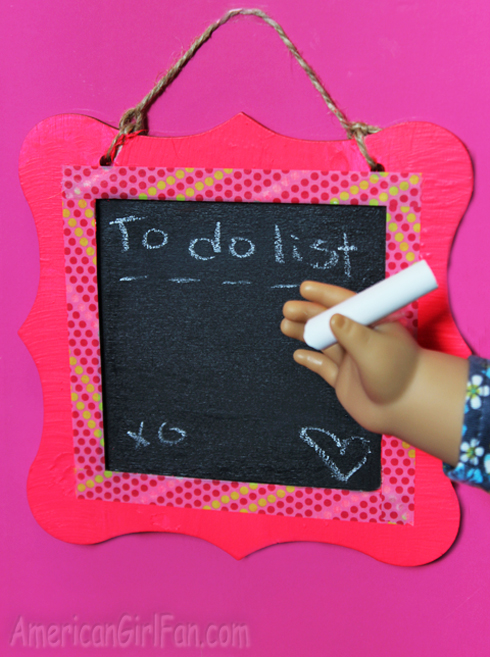 How to make a doll chalkboard